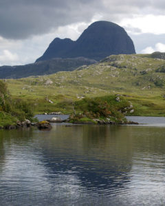 Suilven-from-Glen-Canisp - Sketching & Painting Holidays in Scotland