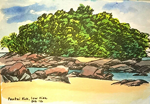 pantai-kok-sketching-pen-and-inks