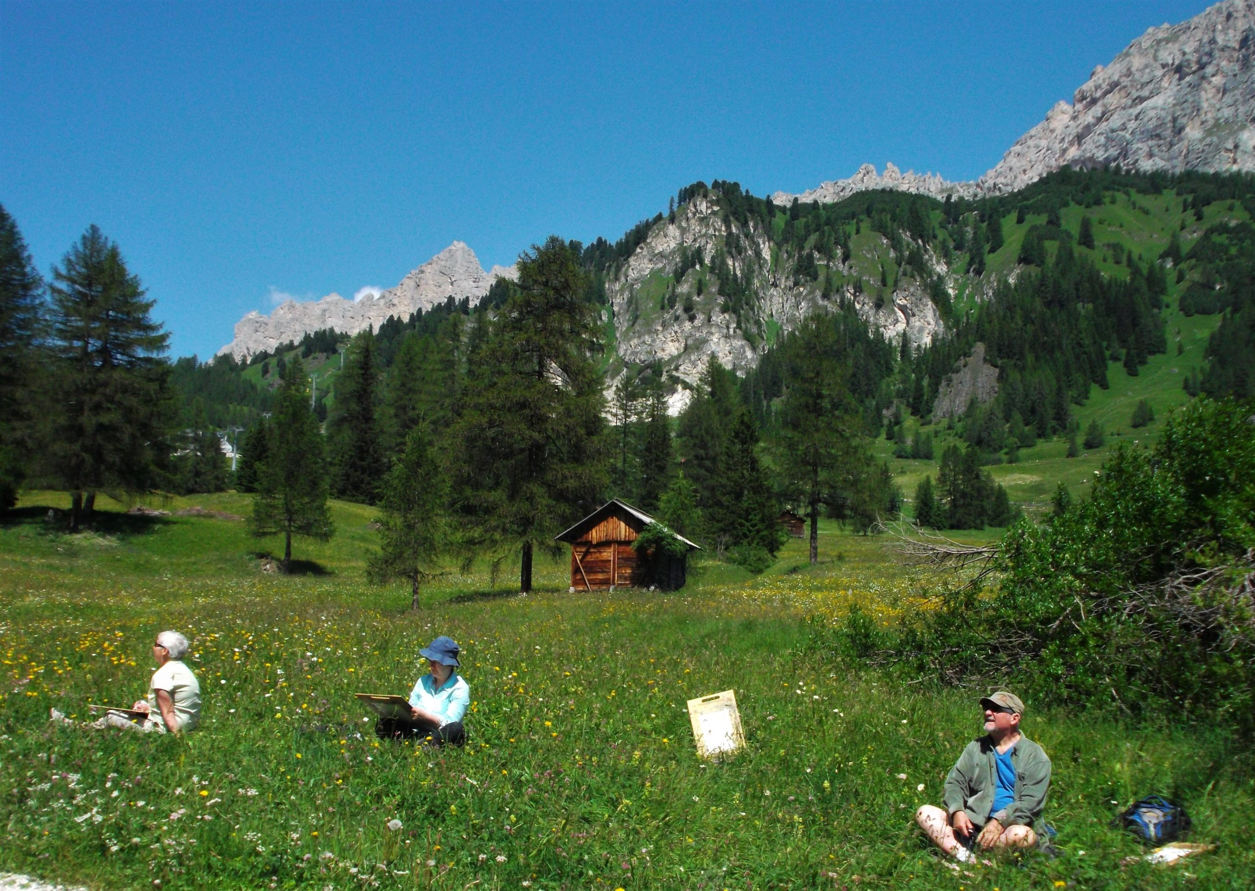 Paintin group in the Dolomites