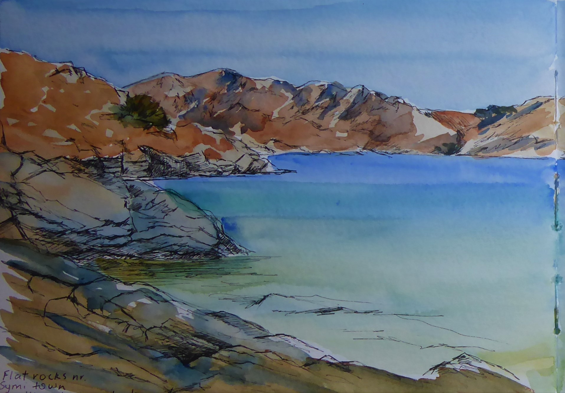 Greece watercolour